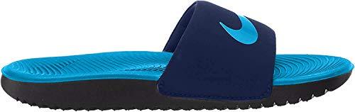 Nike Boys Kawa (GS/PS) Slide Sandal, Midnight Navy/Laser Blue-Black, 33 1/2 EU