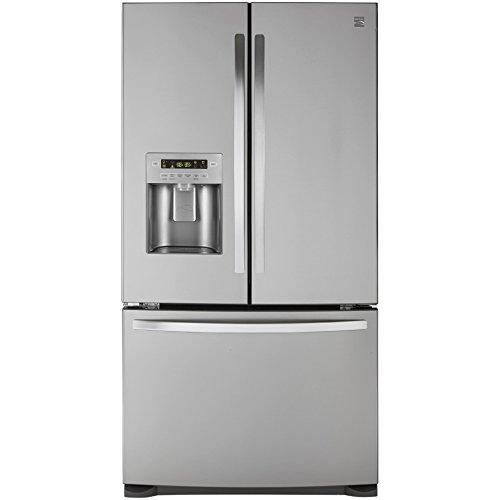 Kenmore 73055 26.8 cu. ft. French Door Bottom Freezer Refrigerator in Stainless Steel with Active...
