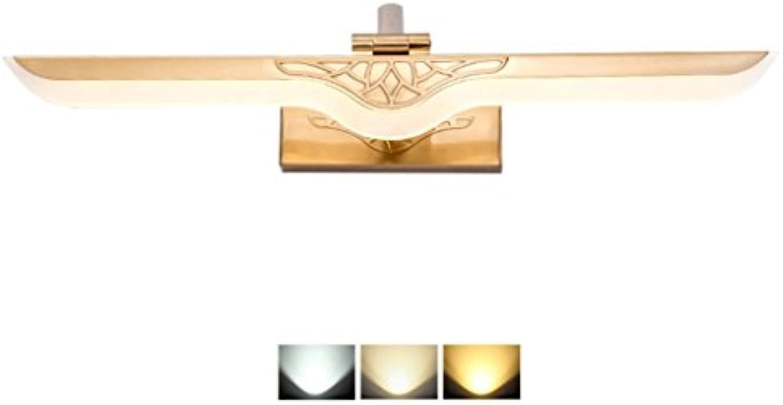 Badspiegel-Lampen, Wand-Anzeigen-Beleuchtung LED-Spiegel Frontlicht im Badezimmer - Moderne Mode Wasserdicht Anti-Fog Spiegel Kabinett Lampe Make-up Wandbeleuchtung Fixtures - Drei-Farben-Licht-Dource