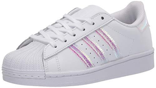 adidas Originals Superstar - Zapatillas unisex para niños, color Blanco, talla 2.5 Little Kid