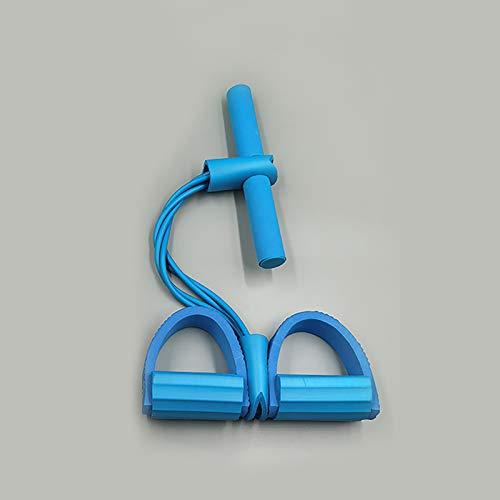 Abdominal Entrenador, ampliadores de Culturismo Multifunción Pierna Resistencia a la Resistencia Elástica Tire de la Cuerda Equipo de Entrenamiento para el hogar Muslos Fitness Equipment,Azul