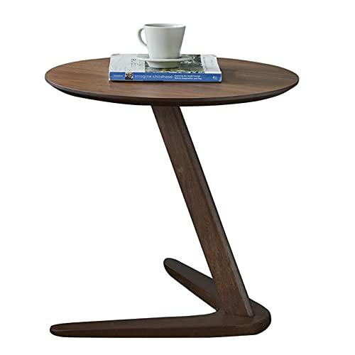 Hermosamente Mesilla Tabla Final Mesas auxiliares mesa auxiliar de madera maciza simple sofá pequeña esquina de la mesa, sala de estar dormitorio creativo Oficina té de lectura Tabla mesa de café, caf