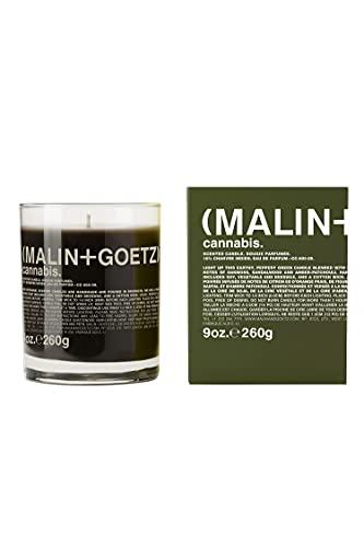 Malin + Goetz Candle, Cannabis, 9 Ounce, Brown