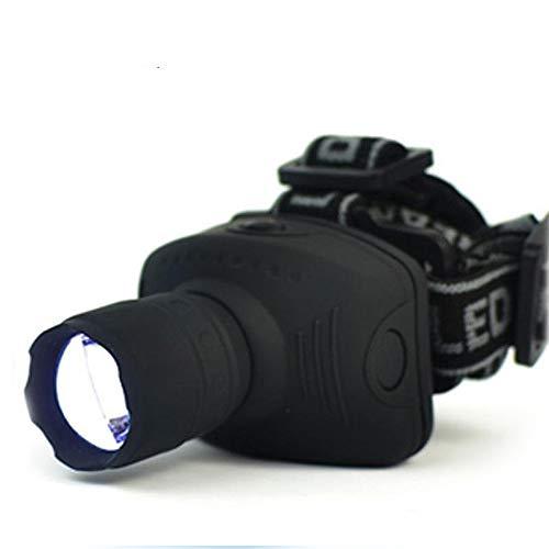 Linterna frontal de 1800 lúmenes, linterna frontal LED, linterna frontal con zoom, linterna frontal