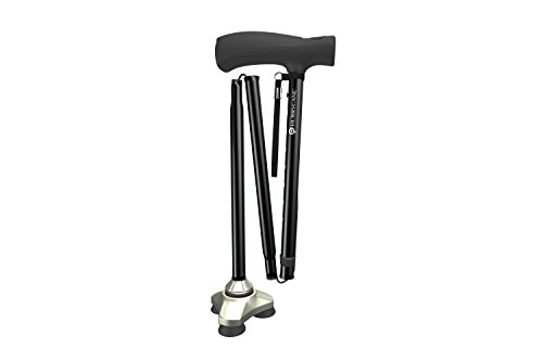 HurryCane HCANE-BK-C2 Freedom Edition Folding Cane with T Handle, Original Black