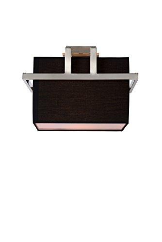 Lucide 31186/30/30 Dyonos Plafonnier Mat/Noir 36 x 36 x 26,5 cm