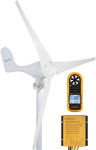 Pikasola 400W Wind Turbine Generator AC 24Volt 3 Blades with Controller for Homes Marine RV product image