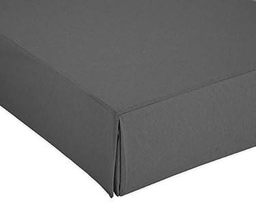 Cardenal Textil Liso Cubre Canape, Gris, Cama 135