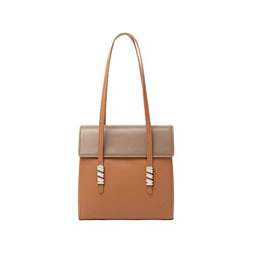 EEKUY Brown lederen tas, stijlvolle koeienhuid schoudertas met hoge capaciteit schoudertas tas biedt ruimte voor Phone Wallet Tablet 11X3.54X10.2 inch