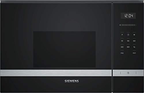 Siemens BF525LMS0 Horno Microondas de Integración, 20L, Hidrolítico, Acero Inoxidable, 7 Programas, 60x38cm