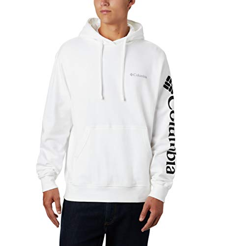 Columbia Men's Viewmont II Sleeve Graphic Hoodie Sweater, -white, Large