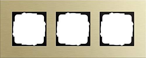 Gira 0213217 Abdeckrahmen Esprit 3-Fach, Aluminium/hellgold