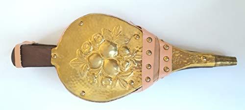 Soufflet de cheminée - Art. 6496ott Mantice pour cheminée - Soufflet en bois avec housse en cuir synthétique - Soufflet de cheminée