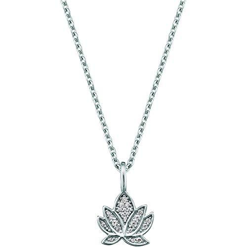 Engelsrufer ERN-LILLOTUS-ZI Damen Collier Lotusblume Silber weiß Zirkonia 44 cm