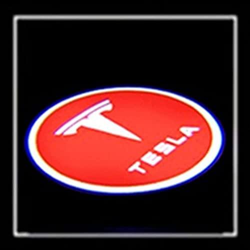 Puerta De Coche Luz De Bienvenida Con Logotipo De Bienvenida Proyectores Luz De Entrada Ghost Shadow LáMpara De ProyeccióN De Paso Cardesy, Compatible Con Tesla Model S/Model X/Model 3
