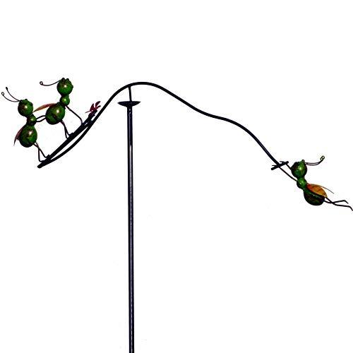 Pommerntraum ® | Windspiel - Gartenpendel - Gartenstecker - Gartendeko - Garten Kunst Ameisen beim Spielen