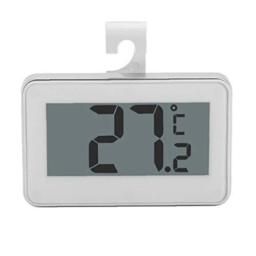 1PC Nevera Termómetro Digital Impermeable sin Hilos del congelador de refrigerador Temperatura Monitor de -20 a 60 Grados de función, MAX/Min Registro con Pantalla LCD Grande