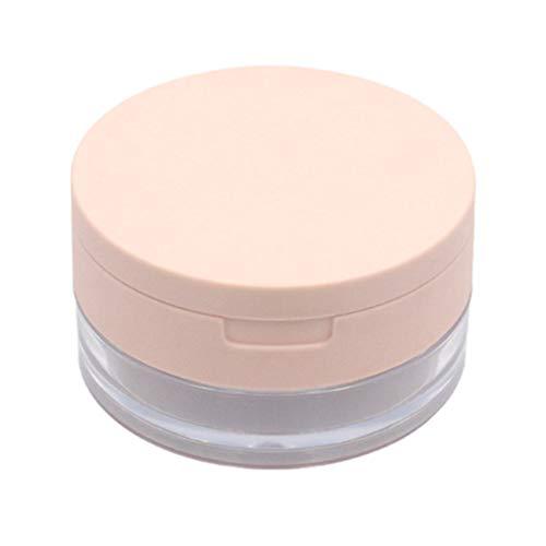 Beaupretty Caja de Polvo vacía Maquillaje cosmético Recargable Caja de Polvo Suelto Caja contenedor contenedor con Tapas de tamiz y bocanada de Polvo