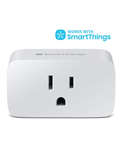 SAMSUNG SmartThings WiFi Plug In Outlet for Smart Home | Control Connected Devices, Monitor Energy Usage, Operate with Voice Commands, No Hub Required | White