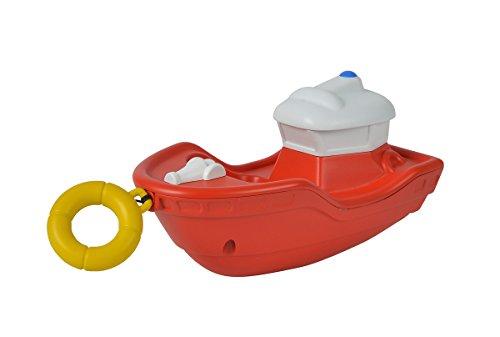 Simba 109252134 - Feuerwehrmann Sam Aufziehboot Titan / Mit Schnur zum Aufziehen / 13cm