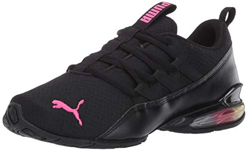 PUMA womens Cell Cross Trainer, Puma Black-luminous Pink, 8.5 US