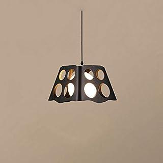 HESHUI حديثة نمط مصباح منخفض منخفض الجهد مزود بشارات رياضية مزودة بشبكة لون أسود خمر مصباح شاشات سقف شنقا شاشات (اللون: أسود)