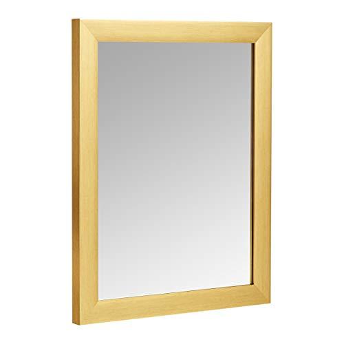 Amazon Basics Espejo para pared rectangular, 40,6 x 50,8 cm - marco estándar, latón