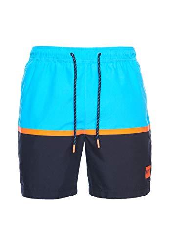 Superdry Herren Colour Block Swim Shorts, Mehrfarbig (Hawaiian Ocean XIZ), XX-Large