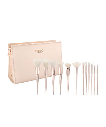 ICONIC London Ultimate Brush Set - 12 Delicadas Brochas con Acabo Perlado