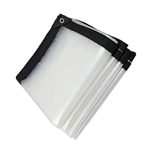 HCYTPL regenhoes van kunststof voor buiten, met ogen, waterdicht, met transparant dak, 120 g/m2