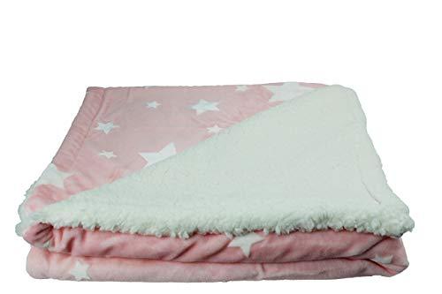 Mantas Sofa Borreguito Rosa mantas sofa  Marca Desconocido