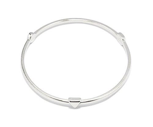 2LIVEfor Armreif modern Armreif Reifen Armband mit Dreieck Kreis Viereck Spitzen Armreif eckig geometrisch (Silber)