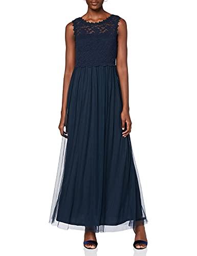 Vila Damen Vilynnea Maxi Dress - Noos Partykleid, Total Eclipse, 42 EU