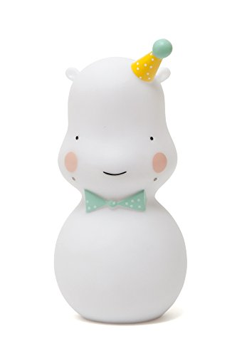 Mini veilleuse Hippo - White