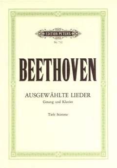 30 AUSGEWAEHLTE LIEDER - arrangiert für Gesang - Tiefe Stimme (Low Voice) - Klavier [Noten / Sheetmusic] Komponist: BEETHOVEN LUDWIG VAN