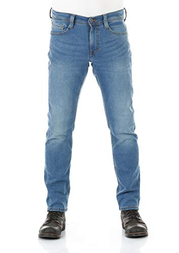 MUSTANG Herren Jeans Real X Oregon Tapered K Stretchhose Jeanshose Sweathose Denim 87% Baumwolle Blau Schwarz Grau, Größe:W 36 L 36, Farbvariante:Medium Blue Denim (312)