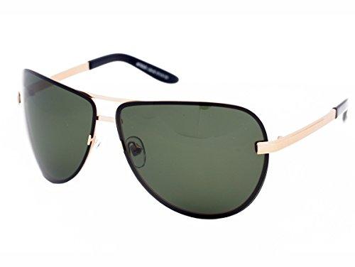 Matrix Gafas de sol polarizadas para hombres conductores Pesca deporte lentes polarizadas verde claro con marco de metal ligero sin deslumbramiento - Marco de metal, 100% protección contra rayos UV