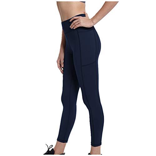 LUNULE Mallas Deporte Mujer Fitness Pilates Fitness Leggings Pantalones de Yoga para Mujer con Bolsillos Lift Buttocks Pantalones Entrenamiento Correr Legging