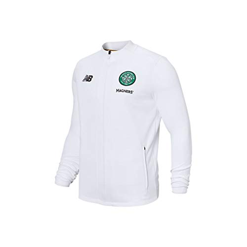 New Balance Men's Celtic Football Game Jacket, White, S