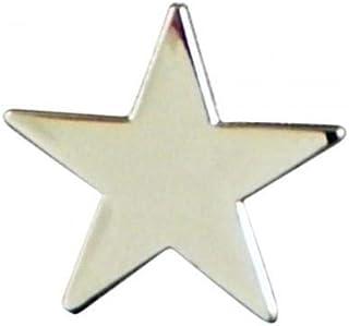 Spilla a forma di spilla in metallo smaltato con stella d'argento