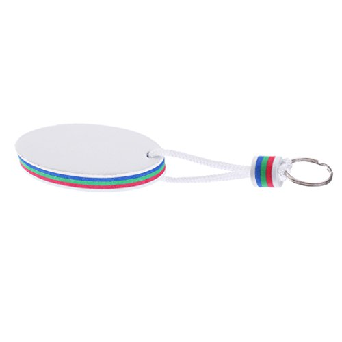 Homyl Schlüsselanhänger Schlüsselbund mit Schlüsselring Surfbrett Form, Floating Keychain - Weiß