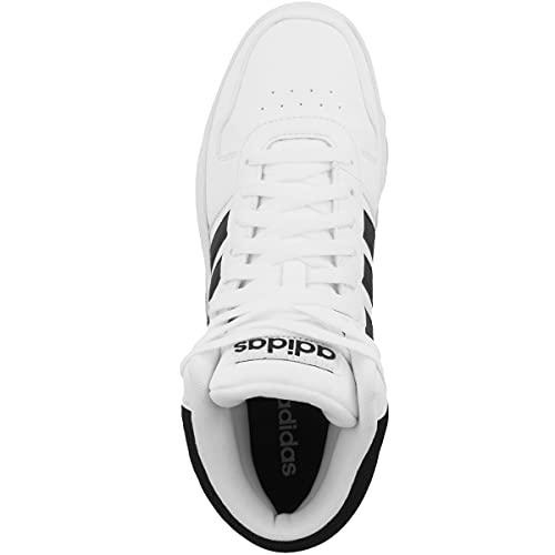 adidas Hoops 2.0 Mid, Zapatillas Altas Hombre, Blanco (Footwear White/Core Black/Core Black 0), 41 1/3 EU