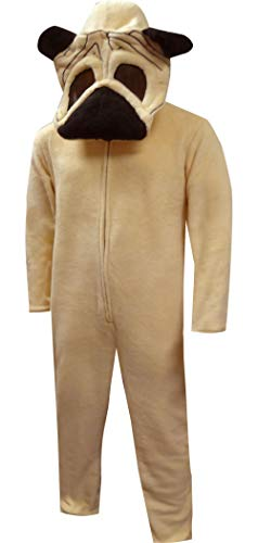 Pug Dog Union Suit Onesie-Large