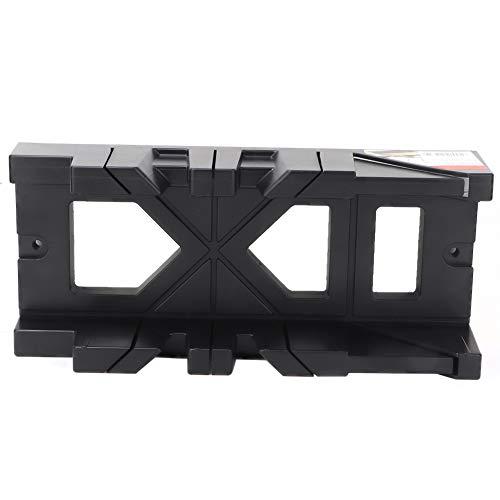 Caja de sierra de inglete Aramox, caja multifunción para sierra de inglete, caja de gabinete, 0/45/90 grados, herramienta de corte de yeso para madera (negro)