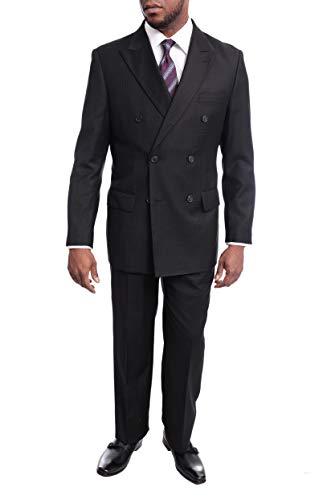 Lavnis Men's 3-Piece Business Suit One Button Slim Fit Tuxedo Blazer Jacket Pants Vest Set Gray XL