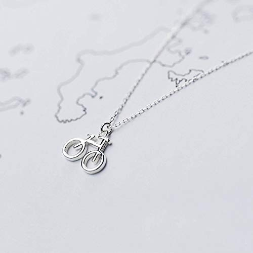 NC Quwely Mini Bike Necklace, A Pendant for Travelers, A Gift for The Best Friend of Cyclists and Homeless People, The Smallest Exquisite Necklace, Fitness Accessories with Quote Cards