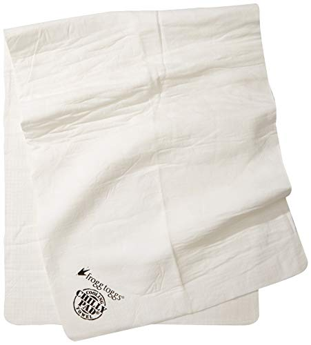 """FROGG TOGGS Chilly Pad Cooling Towel, Ice White, 33"""" x 13"""""""