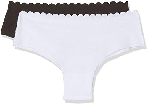 Dim Body Touch Micro Corte láser Braguita, Multicolor (Negro/Blanco 0ca), (Tamaño del Fabricante:40/42) (Pack de 2) para Mujer