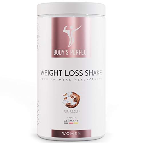 BODY'S PERFECT® - Weight Loss Shake für Frauen, Diät Shake zum abnehmen mit hochwertigem Protein, mit allen wichtigen Vitaminen und Mineralstoffen, 500g (Eiskaffee)