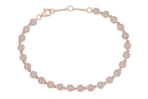 AFFY 14 quilates oro rosa 14ct redonda IJ Diamond